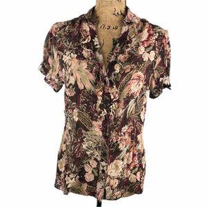 Nygard Collection Silk Floral Blouse